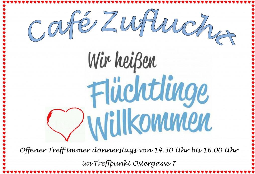 Plakat Café Zuflucht