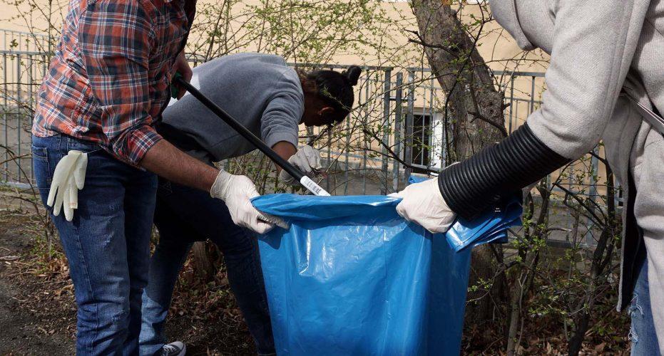 Gemeinsam für eine saubere Stadt: Zweite Putzaktion des AK Asyl am 1. April