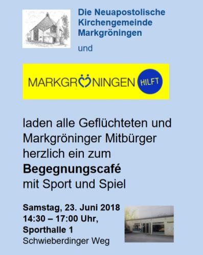 23.06. - Begegnungscafé mit Spiel und Sport - Herzliche Einladung!